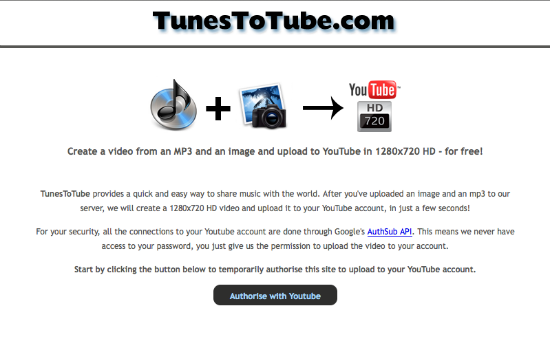 create hd video for youtube from mp3 and images tunestotube. Black Bedroom Furniture Sets. Home Design Ideas