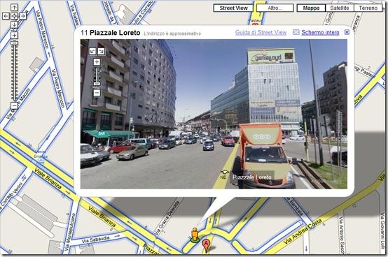 google street view-milano