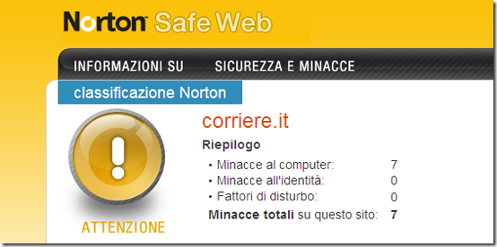 norton safe web-corriere.it
