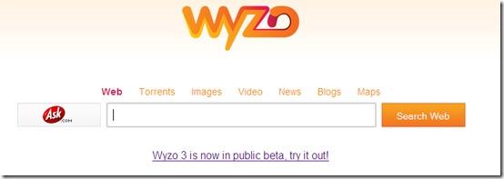 wyzo start page