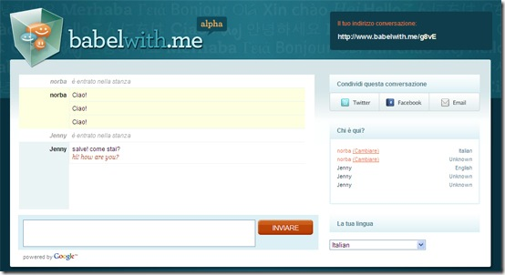 babelwithme-creare-chat room