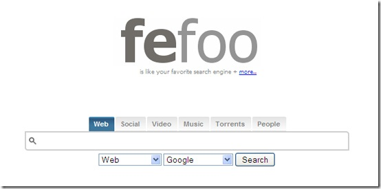 Fefoo-multi-search-engine