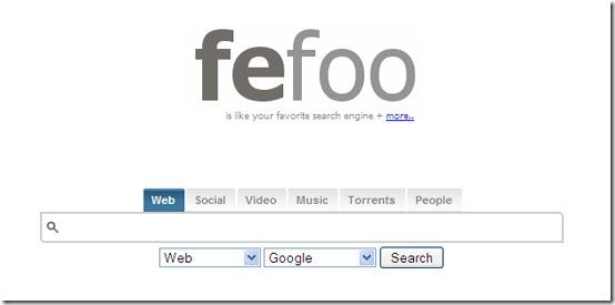 Fefoo-multi-search-engine