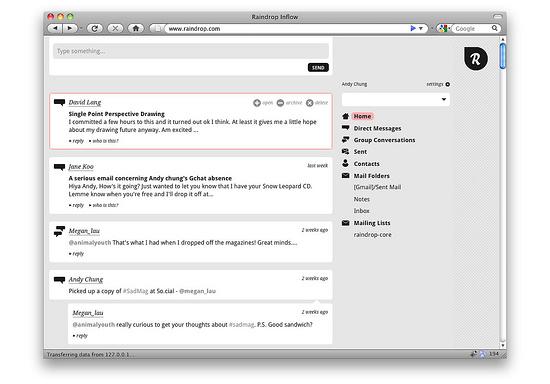 RainDrop: il nuovo modo comunicare online secondo Mozilla Labs