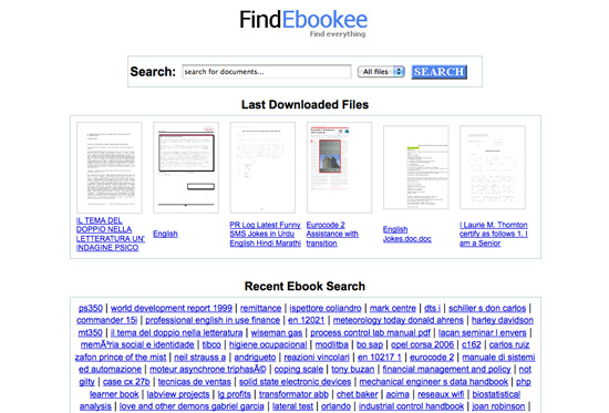 findebookee FindEbookee: Motore Di Ricerca Documenti In Formato: PDF, Doc, Xls E Ppt