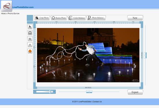 Live Photo Editor, modificare le foto ed immagini online senza scaricare software