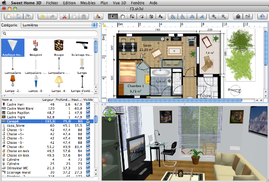 Sweet home 3d programma progettazione interni gratis 3d architect software free download