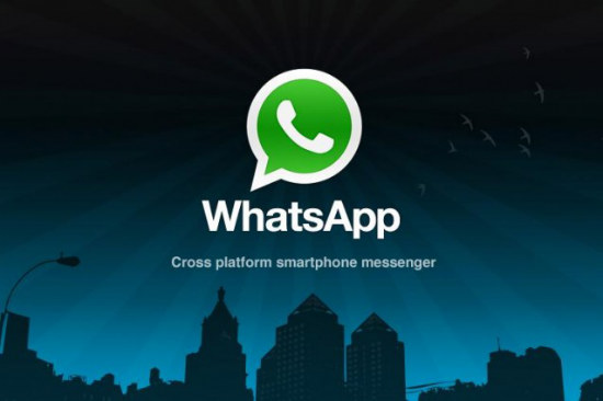Screen-shot della homepage del sito web di WhatsApp