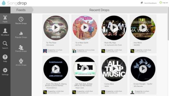Come aggregare, ascoltare e condividere la musica che trovi su Internet: Songdrop
