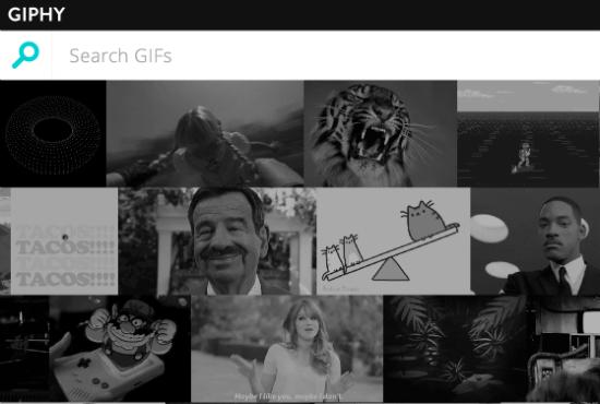 Giphy è un motore di ricerca di GIF animate