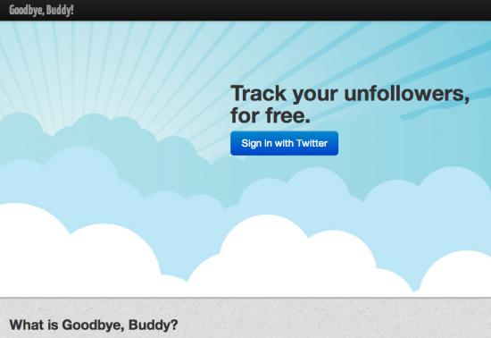 Goddbye Buddy: scopri chi ti ha defollowato su Twitter