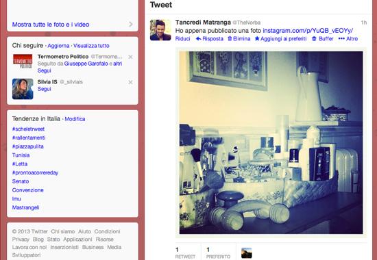 InstaTwit è un plugin Chorme per vedere le foto Instagram su Twitter