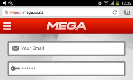 Mega: la mobile app Android