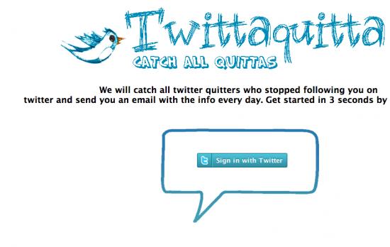 Chi non ti segue su Twitter? Scoprilo con Twittaquitta