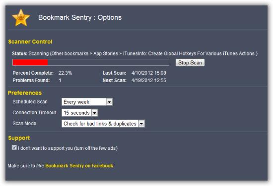 Bookmark-Sentry