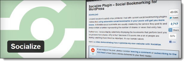 Socialize Social Media Plugin WordPress